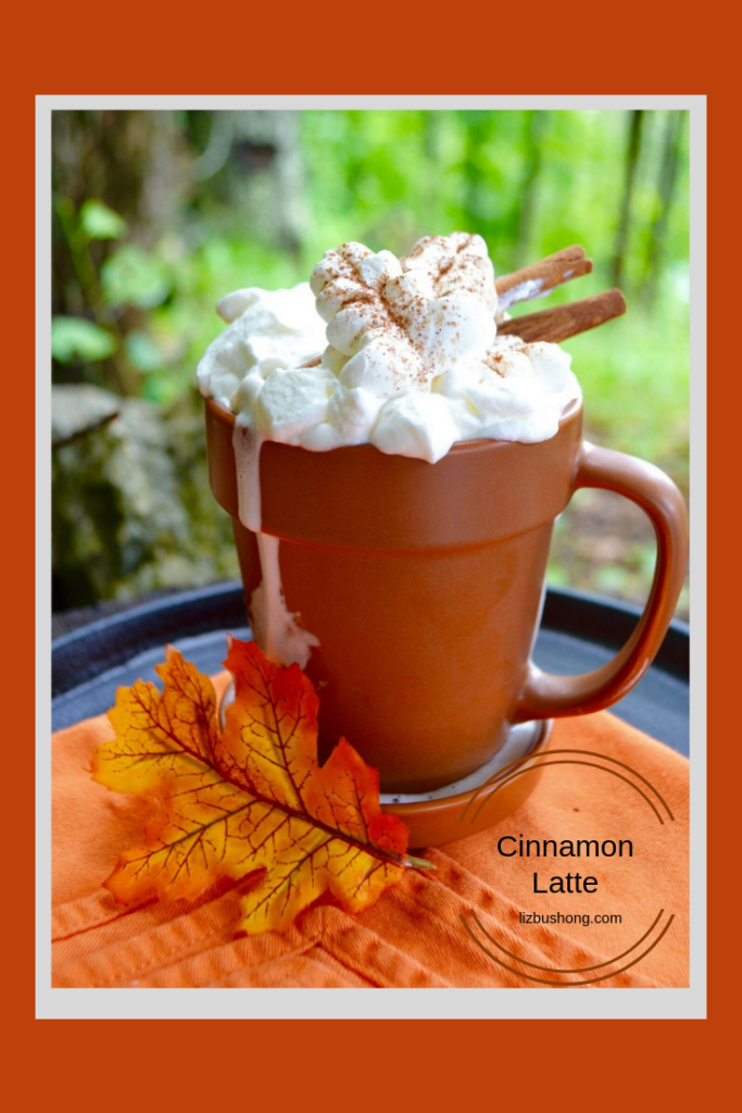 Cinnamon Latte with Whipped Cream Leaves.-lizbushong.com png