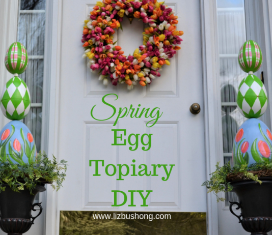 DIY Egg Topiary lizbushong.com