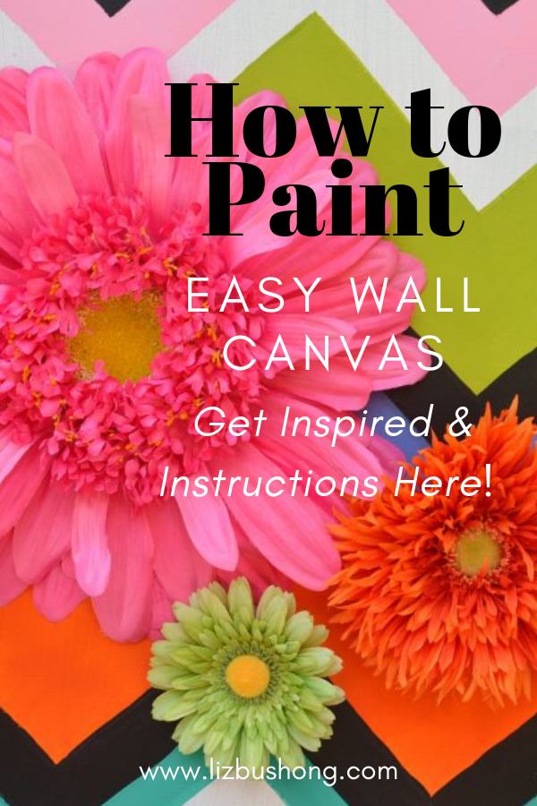 How to Paint Easy Wall Canvas - lizbushong.com