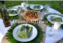 Dining Alfresco Table setting/Video
